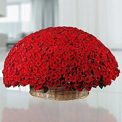 365 Red Roses Basket: Exotic Flowers