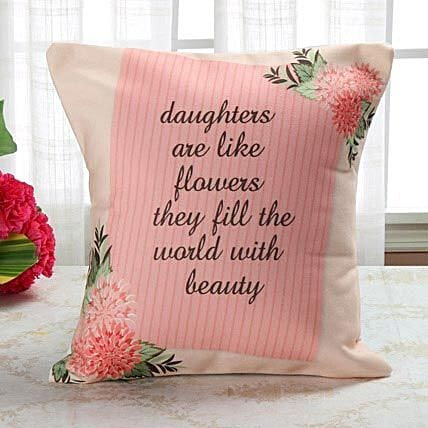 Bloom Like Flower Cushion: Send Daughters Day Cushions