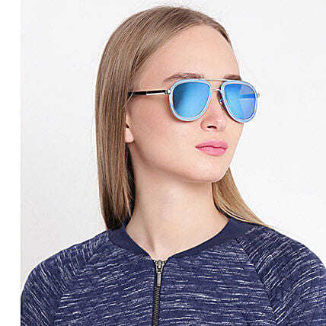 Blue Aviator Unisex Sunglasses: Sunglasses