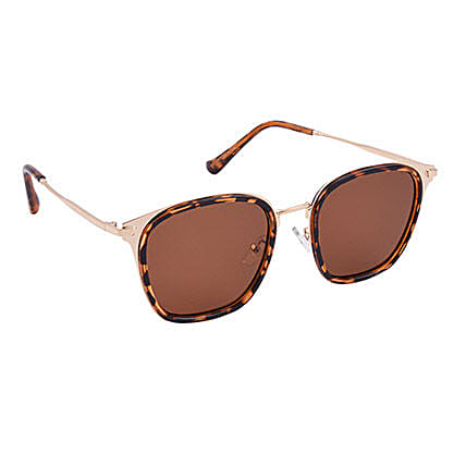 Brown Wayfarer Unisex Sunglasses: Sunglasses