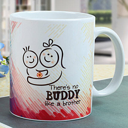 Buddy Brother Mug: Send Rakhi to Noida