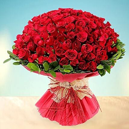 Treasured Love- 200 Red Roses Bouquet: Hug Day Gifts