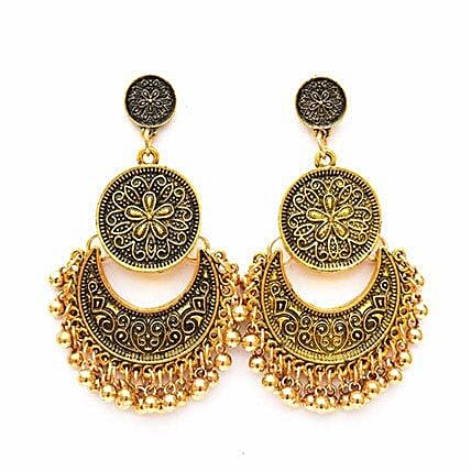 Ethnic Gold Ghungroo Earrings: Accessories