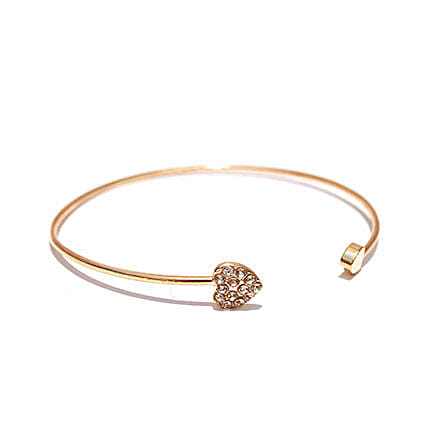 Gold Heart Bracelet: Fashion Accessories