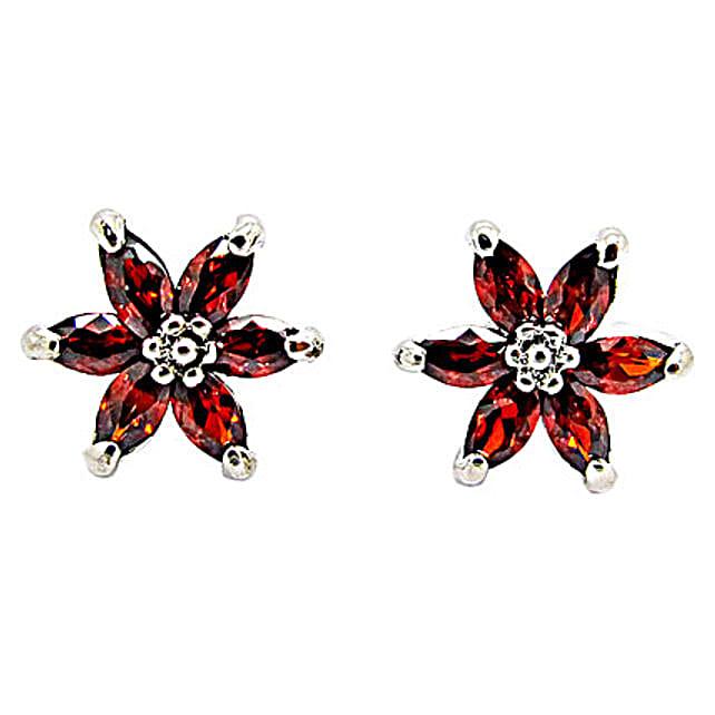 Golden Peacock Orange Earrings: Jewellery Gifts