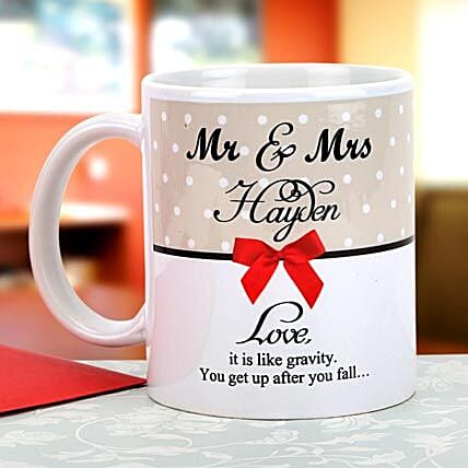 Gravity of love: Personalised Mugs for Anniversary