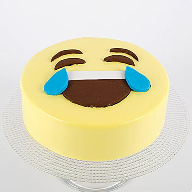 HaHa Emoji Semi Fondant Cake: Send Butterscotch Cakes