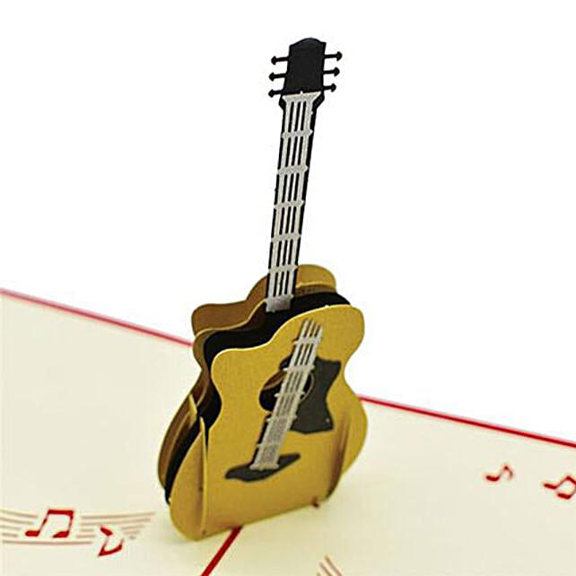 Handmade 3D Pop Up Guitar Greeting Card: Buy Greeting Cards