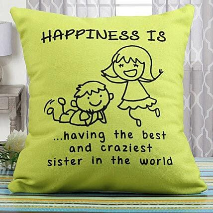 Happiness Cushion: Rakhi