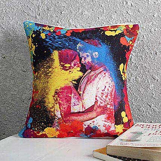 Holi Personalized Cushion: Holi Gifts