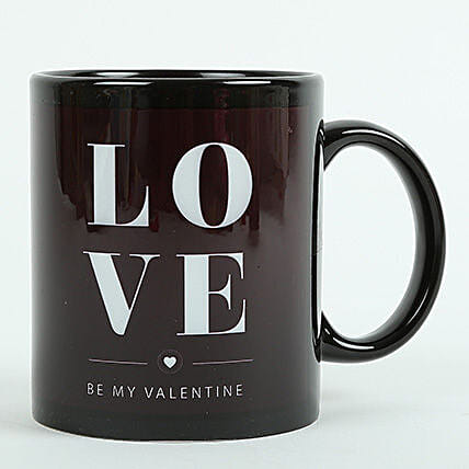 Love Ceramic Black Mug: Gifts Delivery In Alambagh