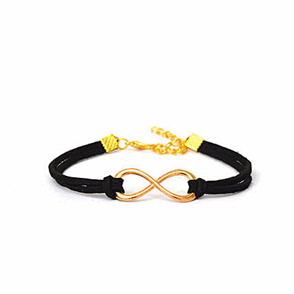 Majestic Black Infinity Bracelet: Friendship day Bracelets