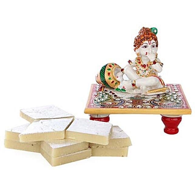 Marble Bal Krishna Combo: Handicrafts