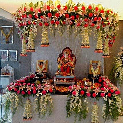 Marvelous Fl Ganpati Decoration