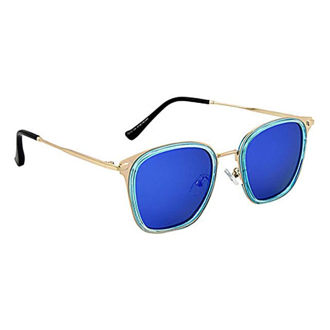 Mirrored Rectangle Unisex Sunglasses: Sunglasses