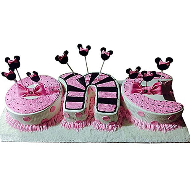 One Semi Fondant Cake:
