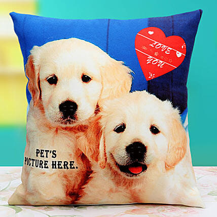 Pat the Pet Personalized Cushion: Buy Retirement Gifts India