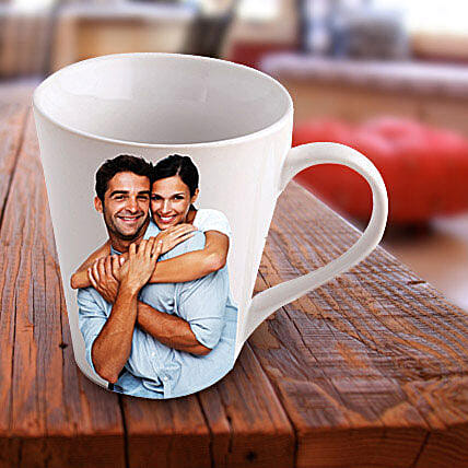 Personalized Ceramic Photo Mug: Mugs for anniversary