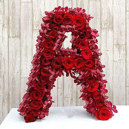 Personalized Floral Alphabet:
