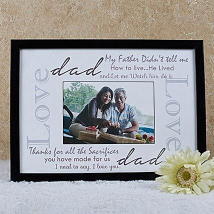 Personalized Frame For Dad: Fathers Day Photo Frames