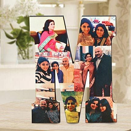 Personalized M Table Top: Gifts to Jhansi