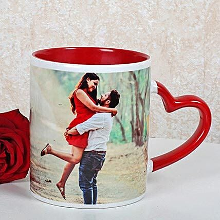 Personalized Red Ceramic Mug: Wedding Gifts