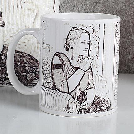 Personalized Sketch Mug: Custom Photo Coffee Mugs