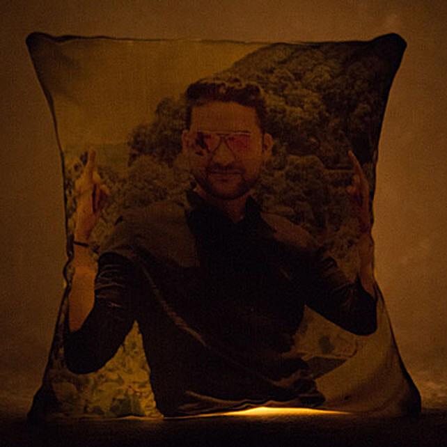 Personalized Yellow LED Light Cushion: Cushions