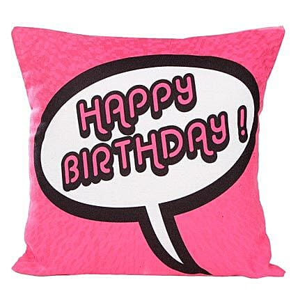 Pink Birthday Cushion: Gifts for 10Th Birthday