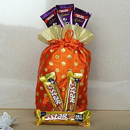 Red Chocolates Potli: Gift Hampers