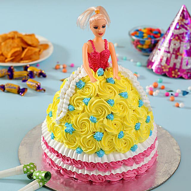 Rosy Barbie Cake: Cartoon Cakes