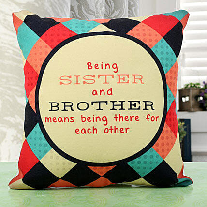 Sibling Love Cushion: Rakhi