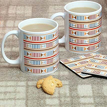 Trendy Mugs With Coasters: Coasters