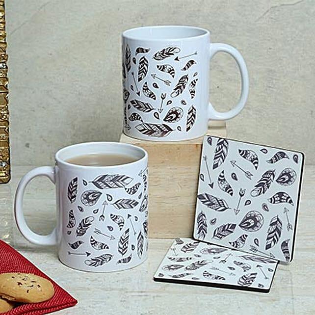 White Duo Mugs N Coasters: Coasters