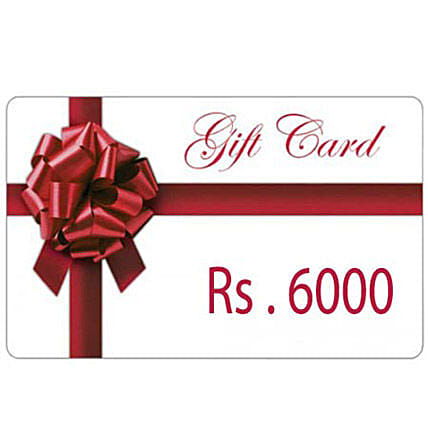 Gift Card 6000: Gift Cards
