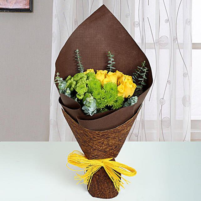 Bunch of Yellow Roses: Send Chrysanthemums
