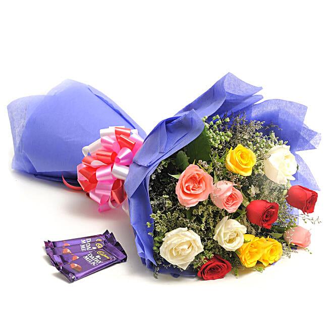 Colour Blast: Flowers & Chocolates for Anniversary