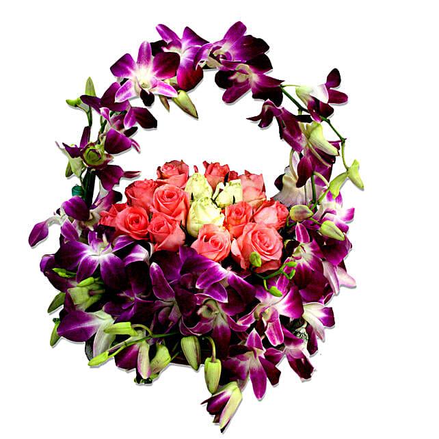 Cradle of best wishes: Basket Arrangements