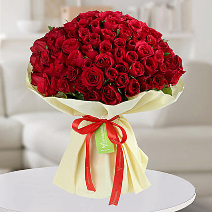 Enchanting Red Roses Bunch: