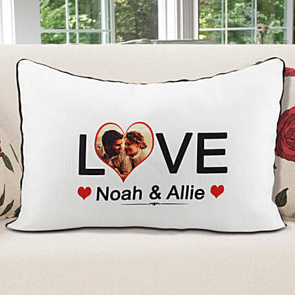 Personalized Pillow Cover White: Cushions for anniversary