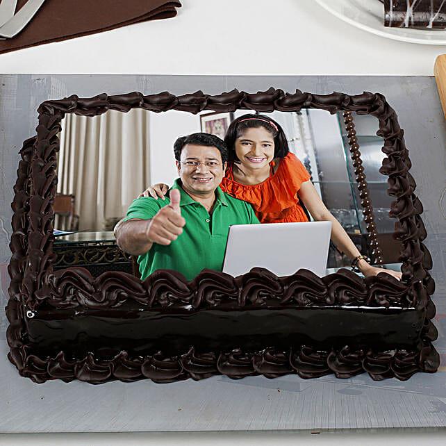 Rich Chocolate Truffle Photo Cake: Photo Cakes