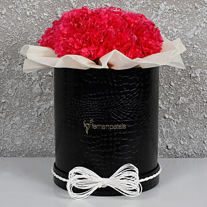Pretty Pink Carnations Box: Send Carnations