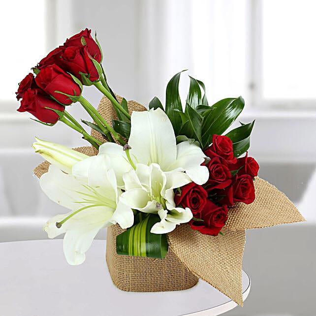 Delightful Flowers Vase Arrangement: Exotic Flowers