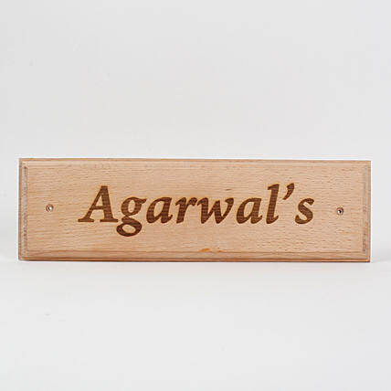 Engraved Wooden Name Plate 2:
