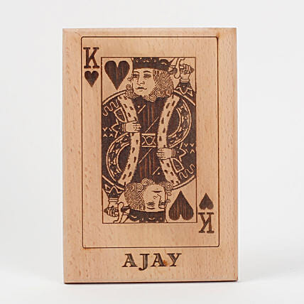 King of Hearts Wooden Plaque: Show Pieces