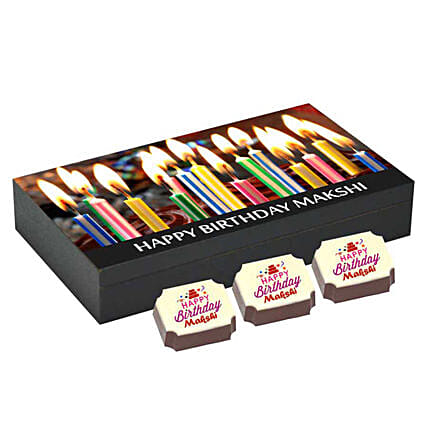 Personalised Birthday Gift Box- 6 Chocolates: Personalized Chocolate Gifts