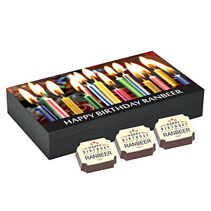 Personalised Happy Bday 6 Chocolate Box: Personalized Chocolates