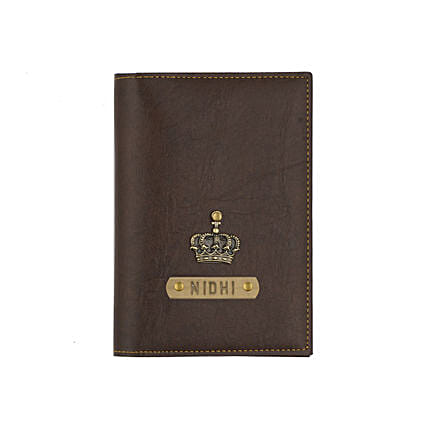 Leather Finish Passport Cover Dark Brown: Accessories