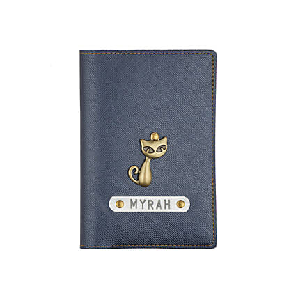 Textured Passport Cover Metallic Blue: Accessories