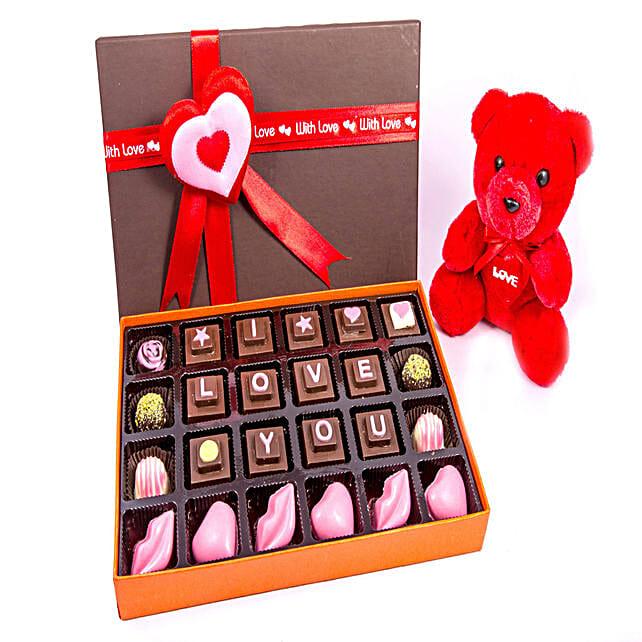 Teddy And I LOVE YOU Chocolates 24: Send Soft Toys